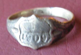 Metal Detector Find Authentic Antique Finger Ring Sz: 9 3/4 Us 19.  5mm 0940 Dr photo
