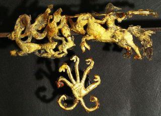 Rare Anciant Gold Artefact Viking /rome /scythian Period Gold Plate photo