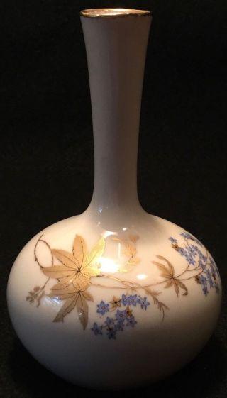 C.  1950s De Hauteville Hand - Painted Porcelain Posy Bouquet Or Nosegay Vase - 5.  5