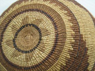 Antique Vintage N.  California Hupa / Yurok Indian Twined Basket Hat photo