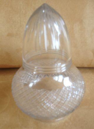Antique Edwardian Era Cut Glass Lampshade photo