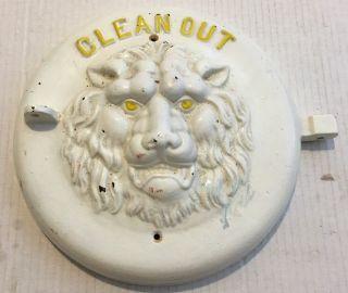 Vintage Painted Cast Iron Lion Head Boiler Out Door photo