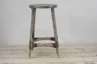Vintage Kitchen Stool Step Stool Metal Stool Industrial Stool Tall Stool photo
