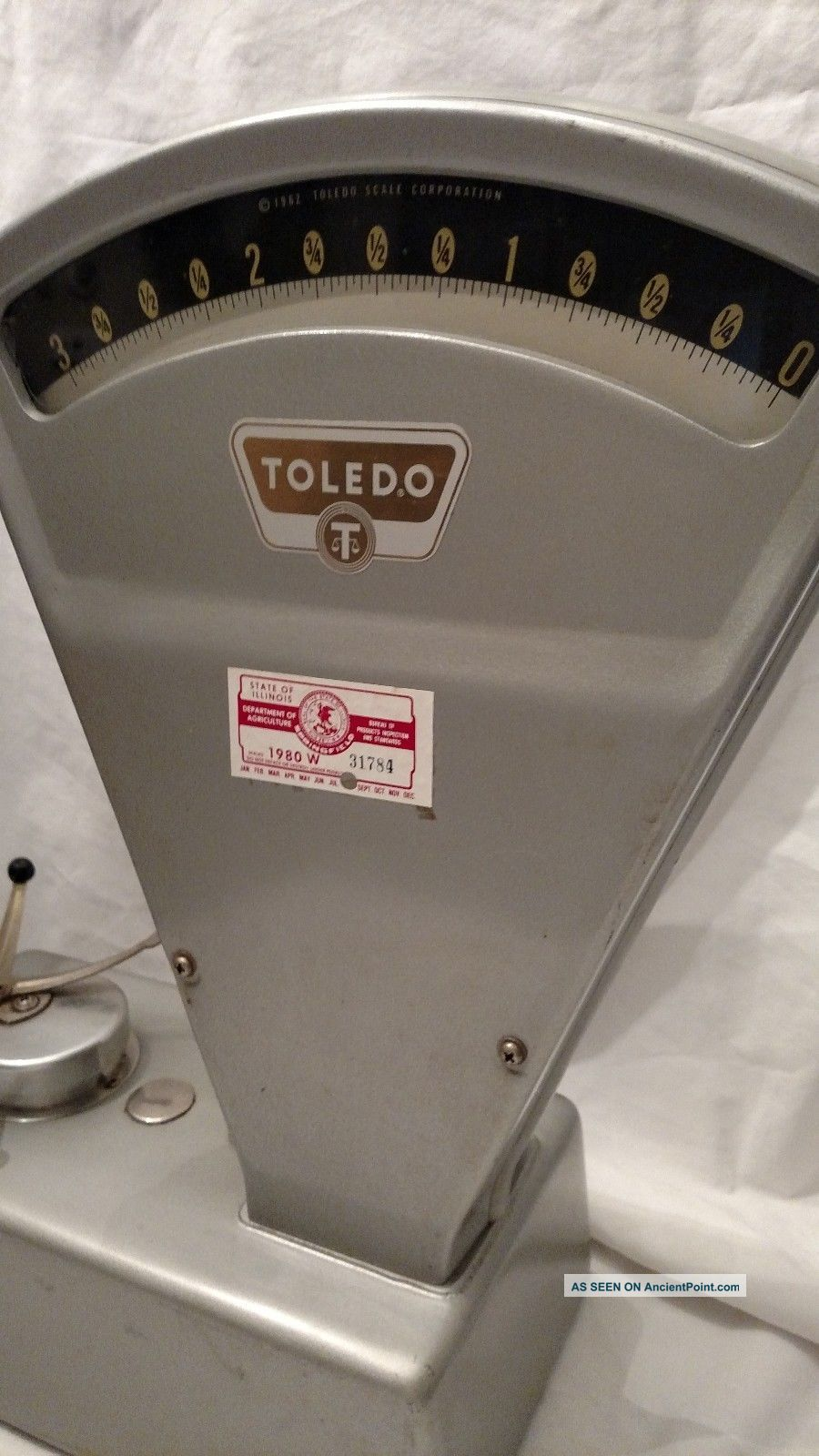 Vintage Antique Toledo General Store Candy 3lb Weight Industrial Scale