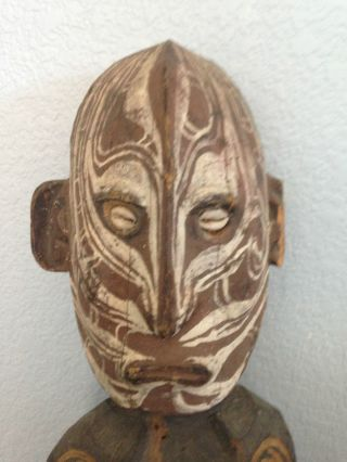 Sepik River Male Ancestral Figure - Carved By Guinea Carvers At Stanford photo