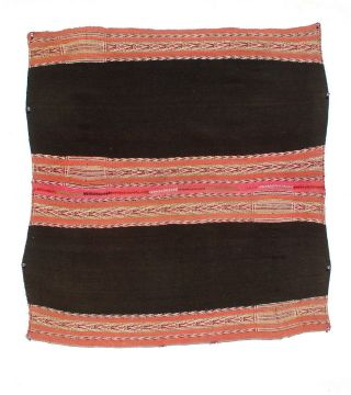 Scarce Antique Llijjlla Andes Quechua Indian Shoulder Mantle Weaving Tm12821 photo