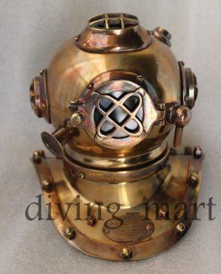 Special Antique Deep Sea Divers Desk Diving Helmet Solid Brass photo