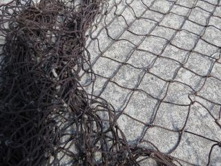 9 Feet X 12 Feet Drk Brown Salmon Alaskan Seine Net Fishing Fish Netting (n284) photo