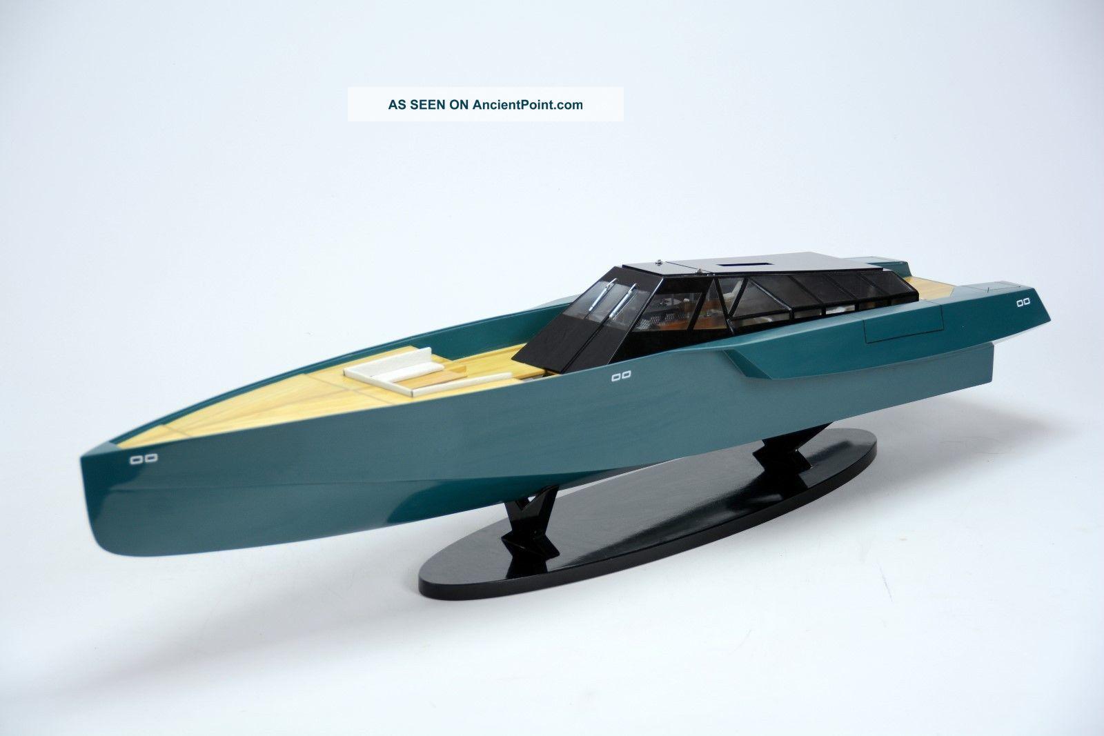 118 Wally Power Luxury Motor Yacht - Handmade Wooden Racing Boat Model