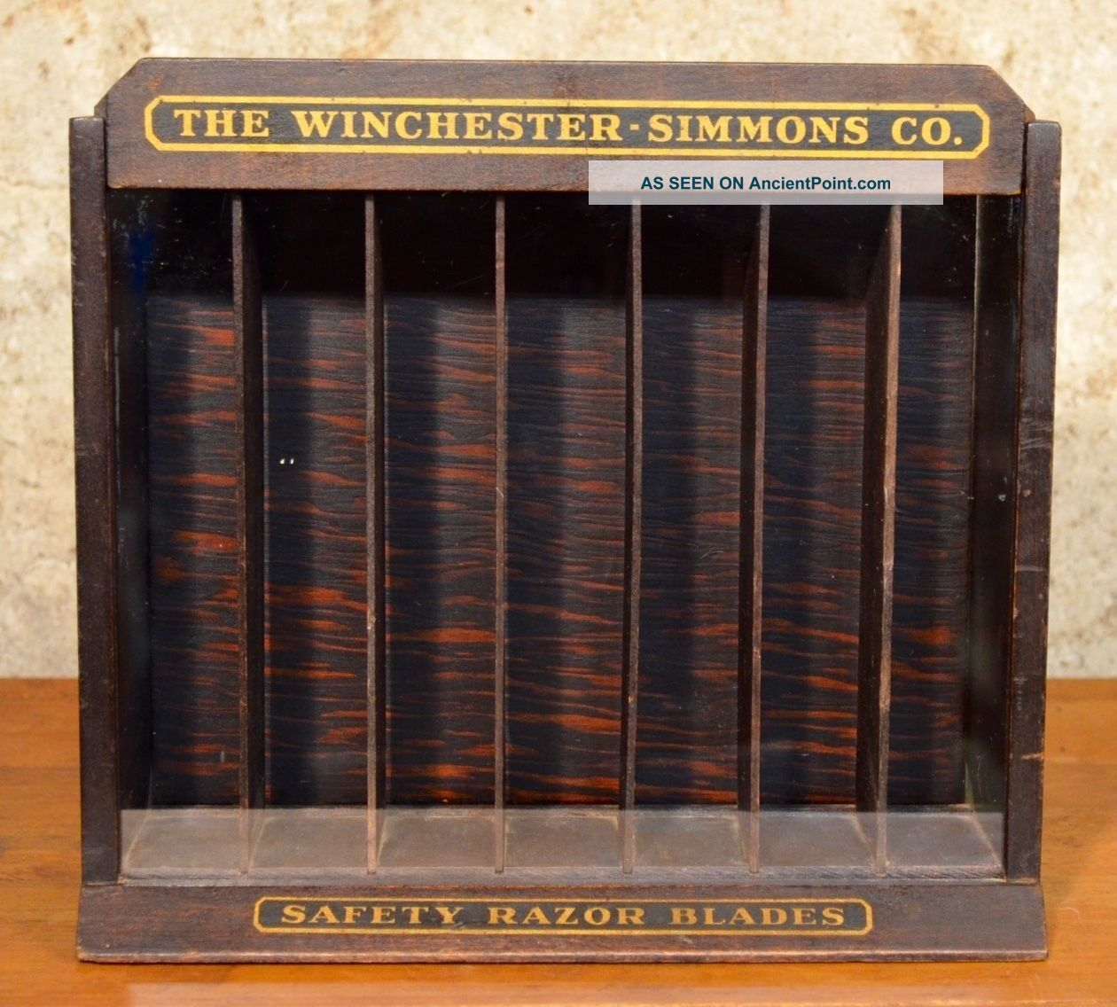 Antique Winchester Simmons Razor Blade General Store Display Case