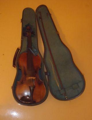 Rare Old German 19th Century Josef Klotz Lion Head Antique Violin,  Case photo