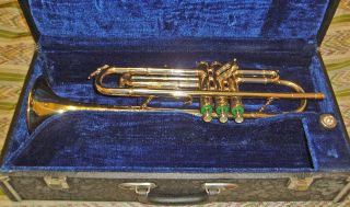 Walburg Brass Texas Bp Trumpet Serial No 693302 As With Case photo