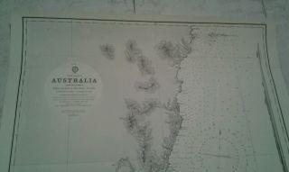 1955 Ship Navigation Map: East Coast Of Australia Nsw Nautical Chart photo