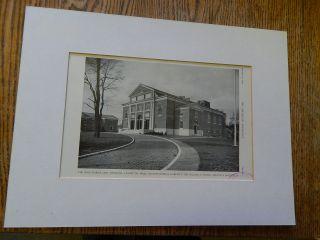 The Isaac Harris Cary Memorial,  Lexington,  Mass. ,  K,  H &b,  Amer Arch,  1928,  Lithograph photo