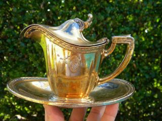 Rare 1926 Gorham Silverplate Lidded Creamer San Francisco Hotel photo