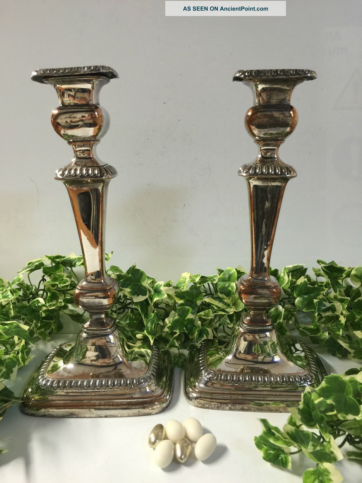 Silver Plated Candlesticks Circa 1900 Candlesticks & Candelabra photo
