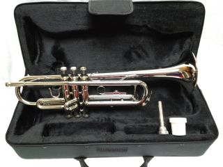 Vintage Rossetti Nickel Plated Trumpet Includes 7c Mouthpiece Lube And Case photo