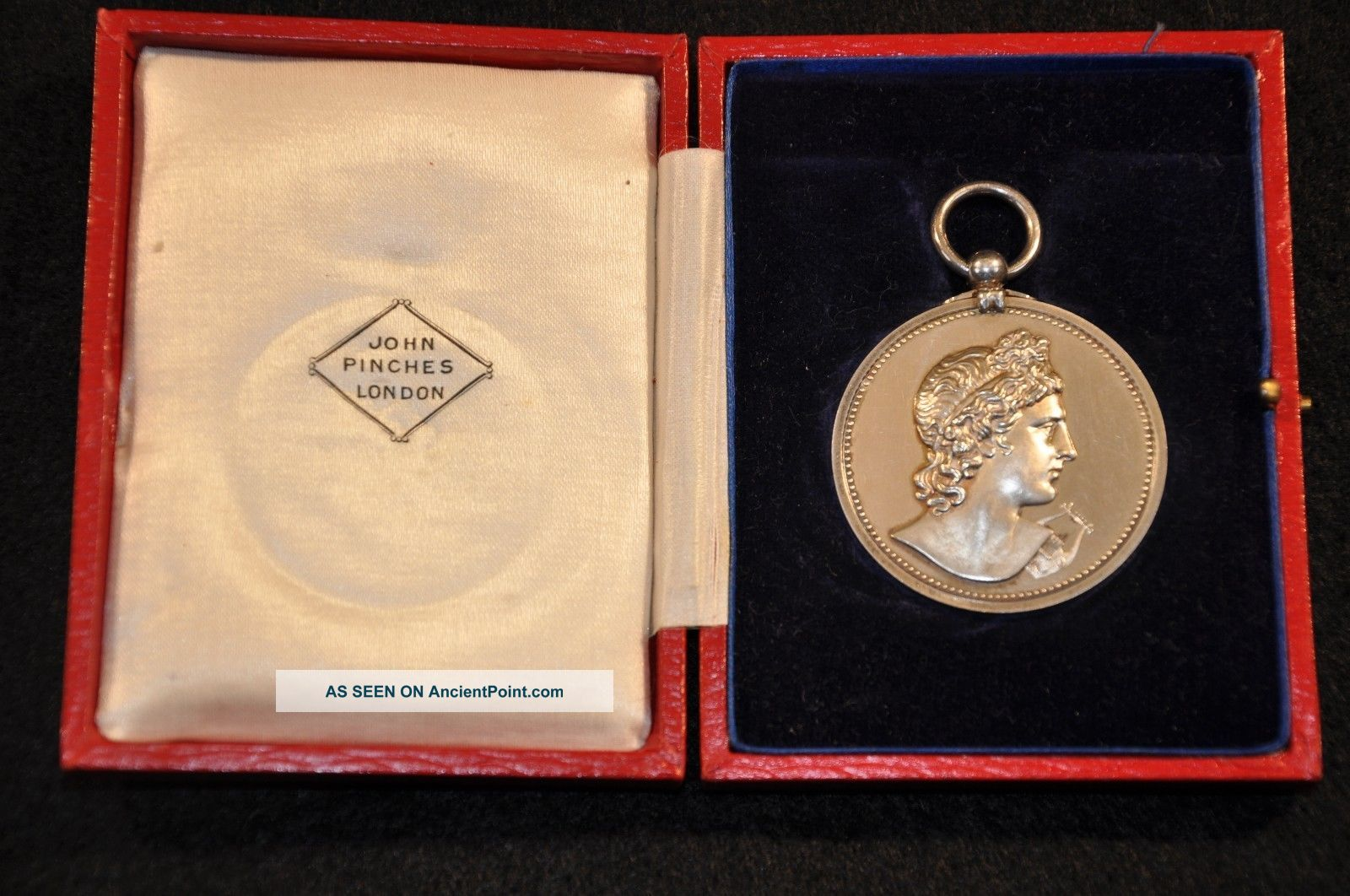 Royal Academy Of Music Silver Medal ' Elocution 1931 - Molly Turner ' W/ Case Rare Coin Silver (.900) photo