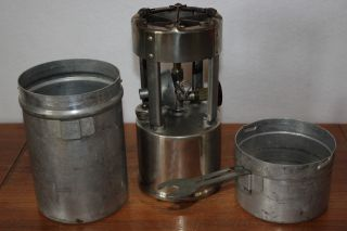 Vintage Coleman Gi Pocket Stove No.  530 B46 Portable Liquid Gas Cook Camping Usa photo