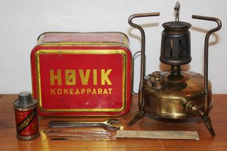Vintage 1930 ' S Standard Hovik Verk Camp Gas Cook Stove No.  41 Norway Camping photo