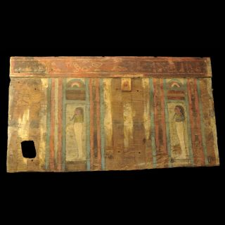 Aphrodite - Ancient Egyptian Wood Sarcophagus Fragment photo