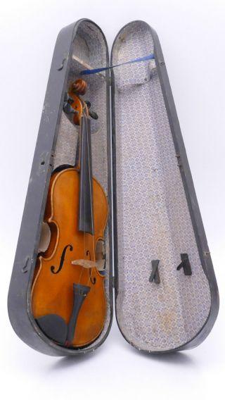 Antique Old Violin,  Case Violino Violine Viola Violino German Germany photo