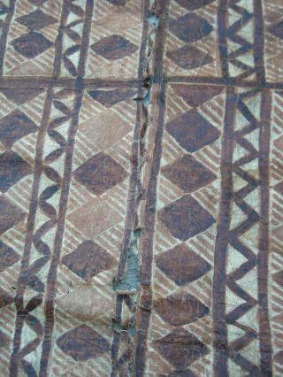 Vintage Hawaiian Hawaii South Seas Islands Fiji Tonga Polynesian Tapa Cloth - Nr photo