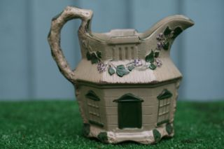 Early 19thc Staffordshire Drab Ware Cottage Jug Or Pitcher C1820s photo
