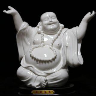 Chinese Dehua Porcelain Handwork Gladness Buddha Statue Csyb347 photo