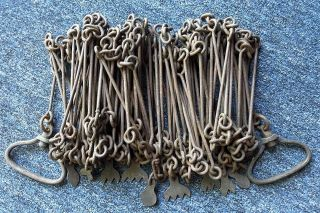 A Desirable Early 66 Foot Steel Land Surveyor Chain By Chesterman,  Circa 1850 photo