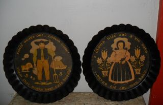 Tole Twins Yorkcraft,  York,  Pa Country Kitchen Pa Dutch Amish Wall Hangings photo