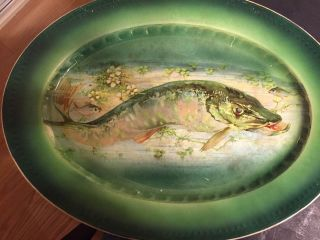 Lg Labelle Pottery/wheeling Pottery Fish Platter In Bright Hues photo