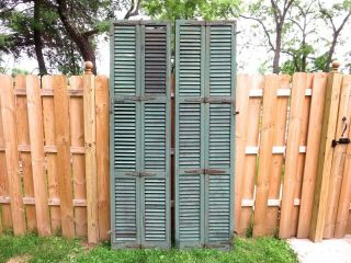 A Antique Green Louvered Shutters,  French Doors,  Bay Window 19th Century photo