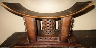 Antique Asante African Tribal Stool In photo