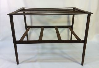 Antique Early 19th C Hand Forged Iron Fireplace Cooking Pot Trivet Stand Table photo