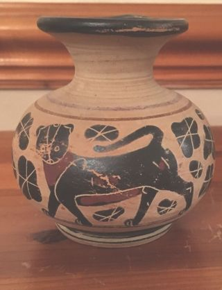 Ancient Greek Pottery Oniochoe 4th Century Jug photo