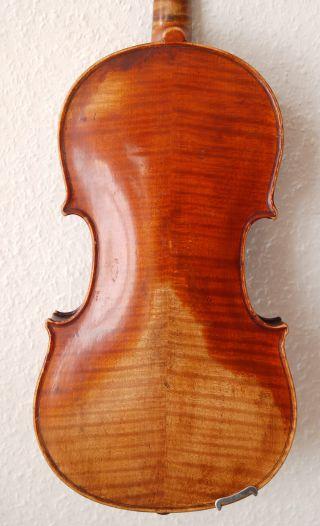 Antique Handmade German 4/4 Violin - 1880 ' S - 4 Corner Blocks photo