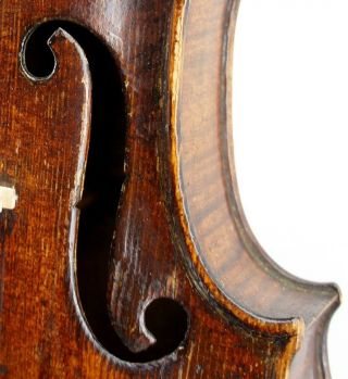 , Old,  18th Century Antique Violin By Friedrich August Glass - photo