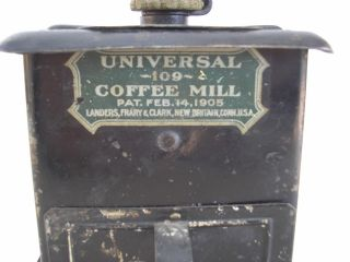 Antique Metal Universal Coffee Mill 109 Patent Feb.  14,  1905,  Britain,  Ct. photo