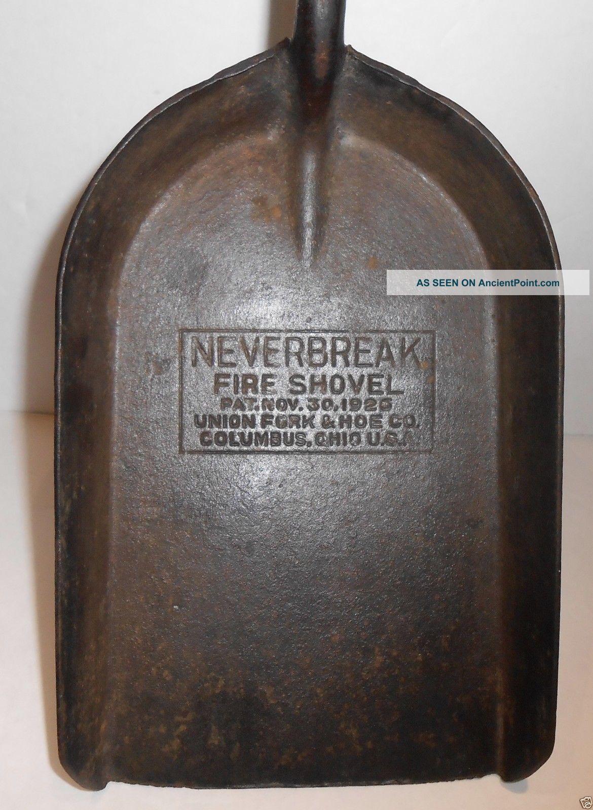 1926 Neverbreak Forged Steel Fire Shovel By Union Fork & Hoe Co. Hearth Ware photo
