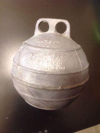 7,  1/2 Inch Aluminum Metal Mooring Net Fishing Float Buoy Bouy Ball (1159) photo