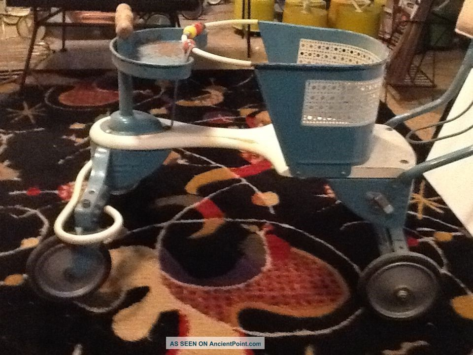 Taylor Tot Stroller/walker Blue & White Baby Carriages & Buggies photo