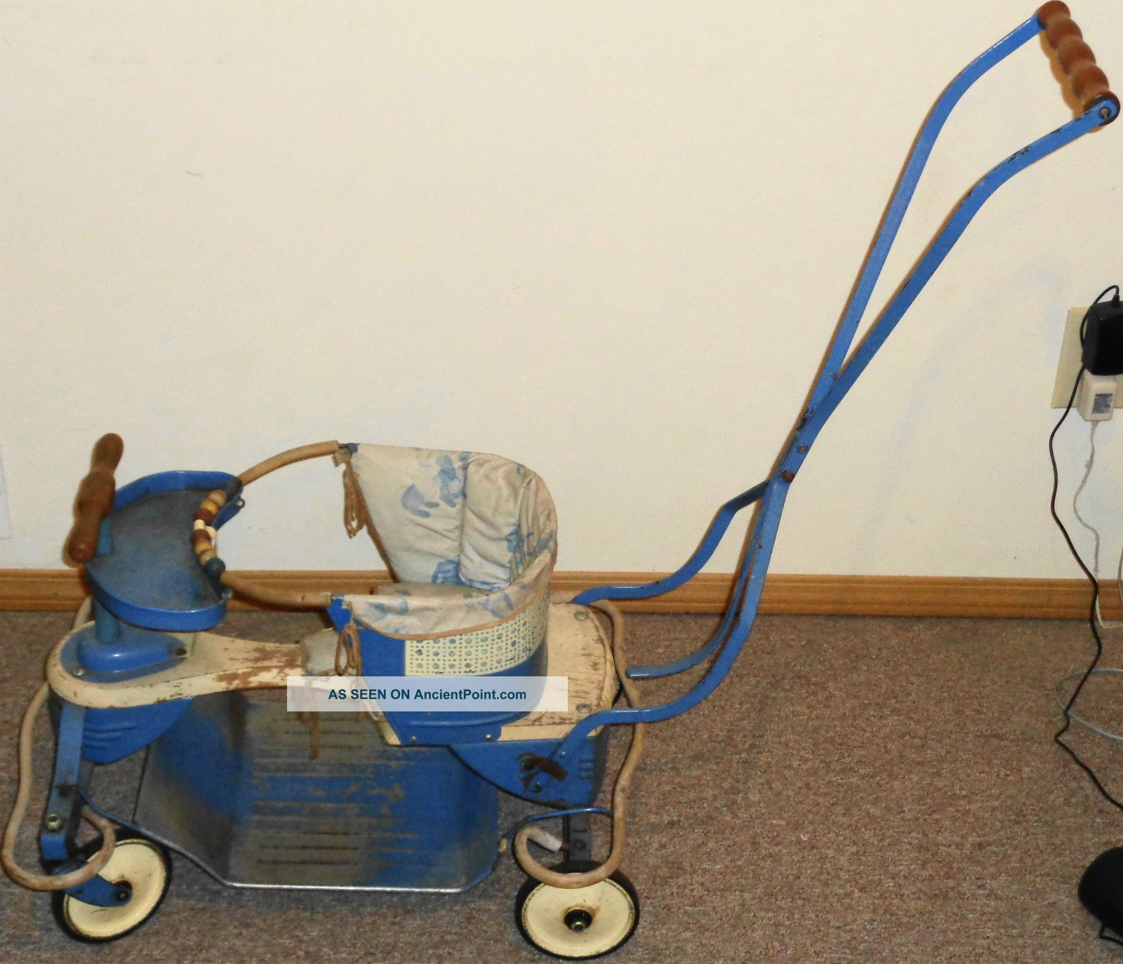 Vintage Deluxe 1948 Taylor Tot Baby Stroller W/ Pad Take A Look Baby Carriages & Buggies photo