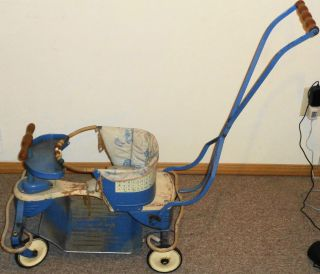 Vintage Deluxe 1948 Taylor Tot Baby Stroller W/ Pad Take A Look photo