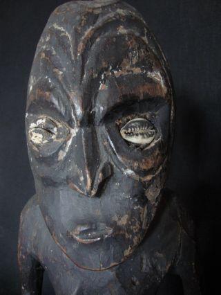 Old Traditional Ancestor Spirit Figure Sawos People:sepik Guinea Cult Statue photo