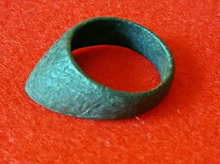 P50:ancient Roman Archer ' S Thumb Ring For Bow String Military Artifact photo