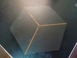 Vintage Harpswell House ' S 300 Million Year Old Slate Hardwood Hexagon Trivet photo