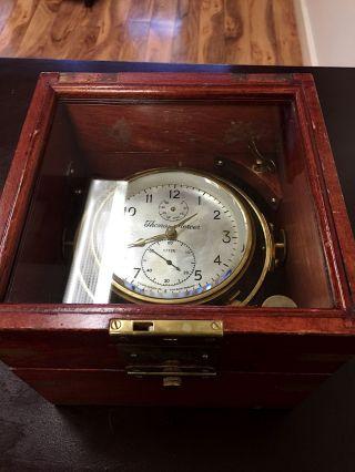 Thomas Mercer 56 Hour Marine Chronometer Clock photo