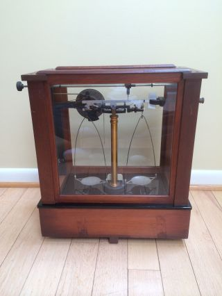 Rare Apothecary Dial - Reading Christian Becker Chainomatic Analytical Balance photo