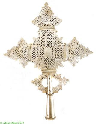 Ethiopian Coptic Processional Cross African Large Africa Was $425.  00 photo
